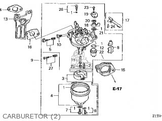 CARBURETOR assembly (
