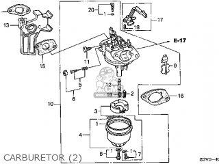 (16100-Z0V-U92) CARBURETOR assembly (