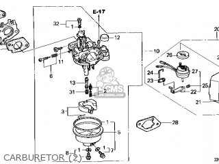 (16100-ZE2-V41) CARBURETOR (BE19B A)