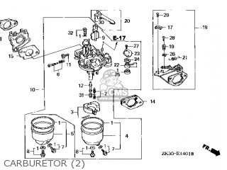 (16100-ZE3-W21) CARBURETOR Assembly
