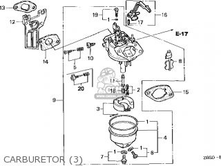 (16100-Z0S-U12) CARBURETOR assembly (
