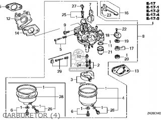 (16100-ZE2-W51) CARBURETOR assembly (