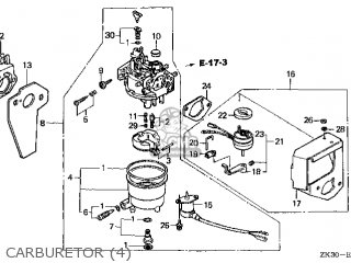 (16100-ZB8-065) CARBURETOR assembly,(