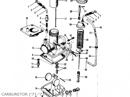 Kawasaki 1974 Ks125 Ks125 Dual Purpose Motorcycle Parts