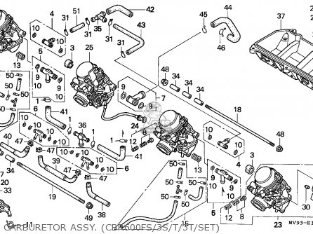 1996 honda cbr 600 carburetor diagram
