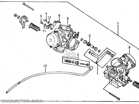 96 Honda Vlx Carburetor Vacuum Diagram