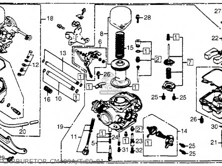 CARBURETOR Y. for CM400A HONDAMATIC 1981 (B) USA - order at CMSNL on teleflex tachometer wiring diagram, vdo tachometer wiring diagram, auto meter tachometer wiring diagram, boat tachometer wiring diagram,