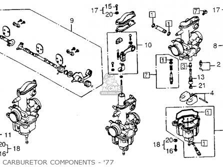 16165 383 701 holder needle jet cb550 four cb550k3 1977 usa rh cmsnl com honda cb550 carb float adjustment Honda Small Engine Carburetor Diagram