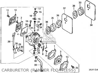 (16100-Z0D-V07) CARBURETOR assembly