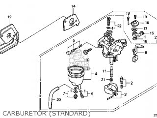 (16100-Z0D-023) CARBURETOR assembly (