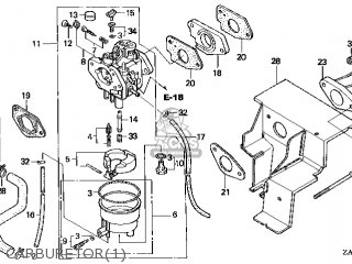 (16100-ZA0-924) CARBURETOR assembly(S