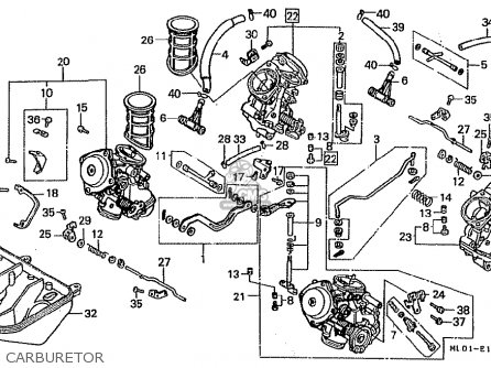 Carburetor Assy For Vfr400rii Nc24 100 1987 H Japan