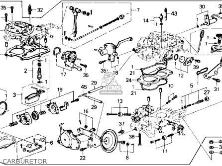 Honda Accord Carburetor Diagram