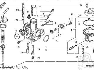 (16100-KTT-894) CARBURETOR assembly