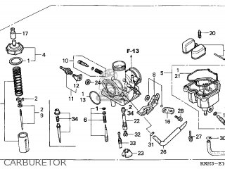 (16100-KRH-901) CARBURETOR assembly