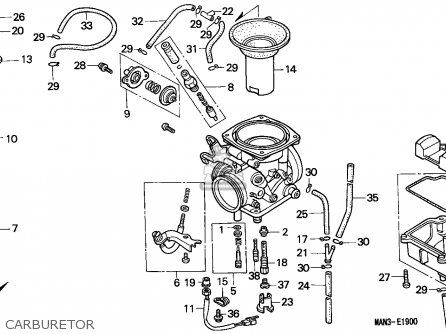 (16100-MAN-791) CARBURETOR assembly