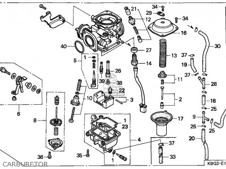 (16100-KBG-671) CARBURETOR assembly