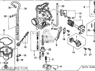 (16100-KCY-682) CARBURETOR assembly
