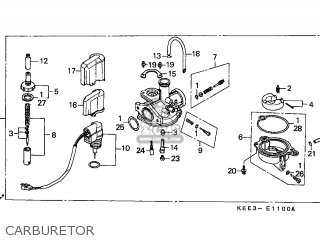 (16100-KEE-901) CARBURETOR assembly