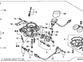(16100-KGG-914) CARBURETOR assembly