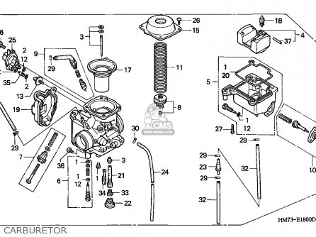 (16100-HM7-L02) CARBURETOR assembly