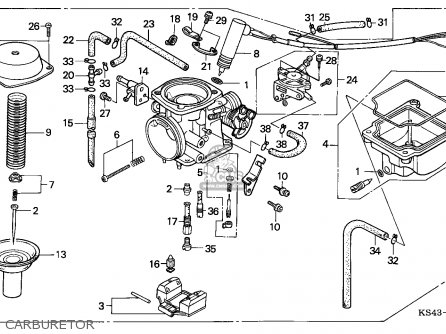 (16100-KS4-083) CARBURETOR assembly