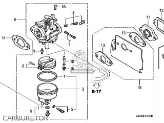 (16100-Z1A-802) CARBURETOR assembly (