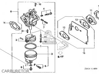 (16100-Z2C-023) CARBURETOR assembly (