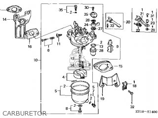 (16100ZE1825) CARBURETOR assembly