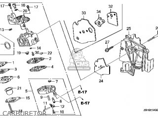 (16100-Z0H-834) CARBURETOR assembly