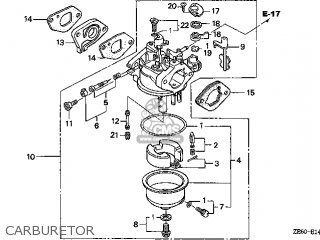 (16100-ZE6-V71) CARBURETOR assembly (