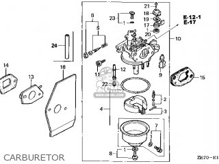 (16100-ZE7-055) CARBURETOR Assembly