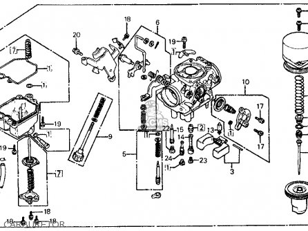 carburetor assy fits ft500 ascot 1982 c usa order at cmsnl rh cmsnl com 1982 Honda Ascot FT500 Review FT500 Ascot Frame