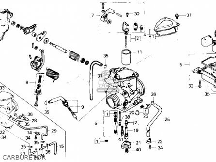nozzle main atc250sx 1985 f usa 16166ha6003 rh cmsnl com honda atv carb diagram honda recon atv carburetor diagram