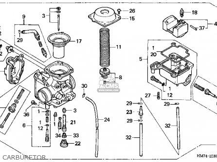 (16100-HM7-L02) CARBURETOR assembly