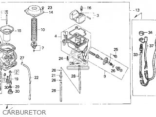 CARBURETOR ASSY for TRX300 FOURTRAX 300 1996 (T) USA - order at CMSNLCmsnl.com