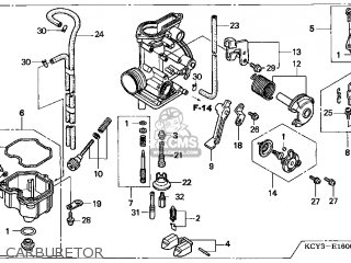 (16100-KCY-772) CARBURETOR Assembly