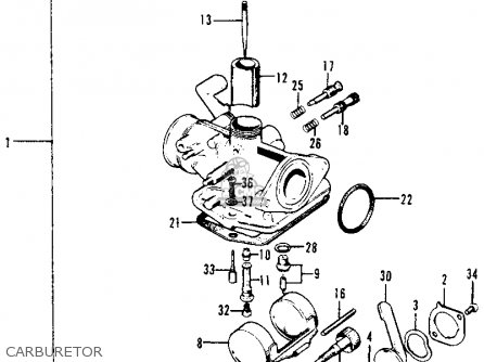 honda trail 70 carburetor diagram wiring diagram name Honda Recon 300 carburetor assy for ct70 trail 70 k0 1969 usa order at cmsnl honda trail 70 motorcycle
