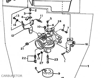 Yamaha G16 Golf Cart Carburetor Diagram