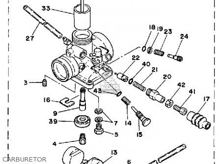 Diagram Of Yamaha Atv Parts 1984 Trimoto Yt125l Carburetor Diagram