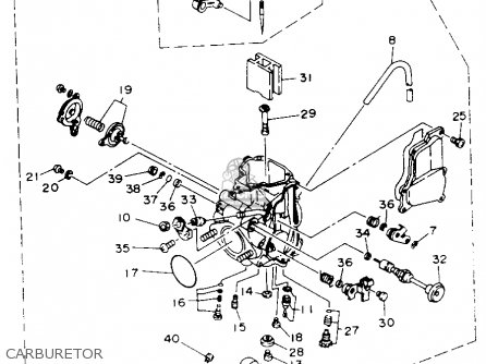 Yamaha Kodiak 450 Carburetor Diagram