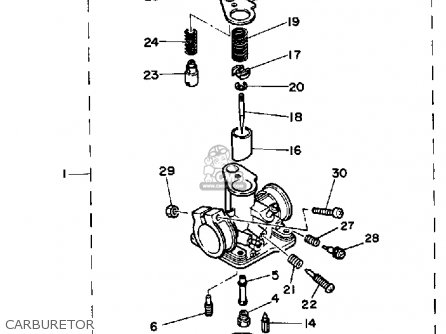 wiring diagram for yamaha pw50 with Polaris Carburetor Rebuild Diagram on Ysr 50 Wiring Diagram besides Yamaha Rz350 Carburetor besides Partslist besides Showthread furthermore Yamaha Xt225 Carburetor Diagram.