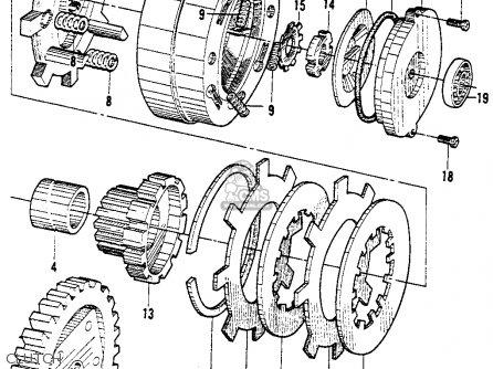 Honda Sl90 Motosport 90 1969 Parts