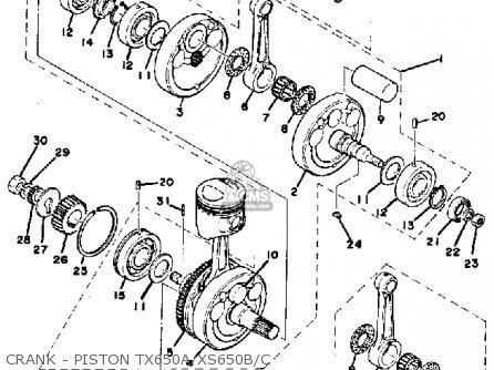piston kit 1st fits xs650 1975 usa order at cmsnl rh cmsnl com XS650 Engine Stand Suzuki LT80 Carburetor Diagram