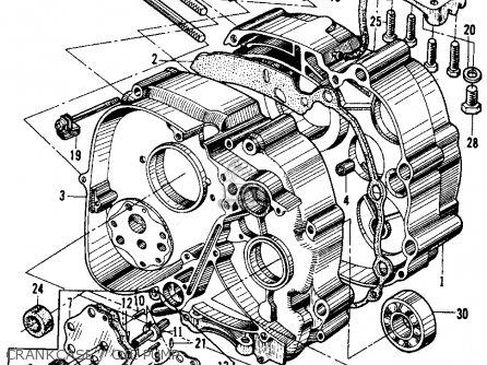 Honda Ca200 Touring 90 1964 Parts
