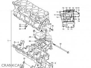 CRANKCASE SET for GSXR600 2005 (K5) USA (E03) - order at CMSNL | Gsxr 600 Engine Diagram |  | Cmsnl.com