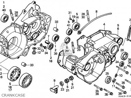 crankcase assy r fits cr250r elsinore 1987 h canada cmf rh cmsnl com 2001 honda cr250 manual honda cr 250 manual pdf