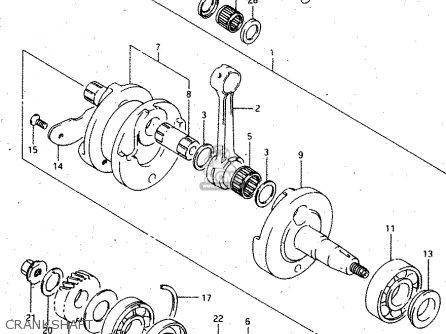 Crankshaft Assy Rgv250 1994 R E02 E04 E21 E24 E34 1220022d11