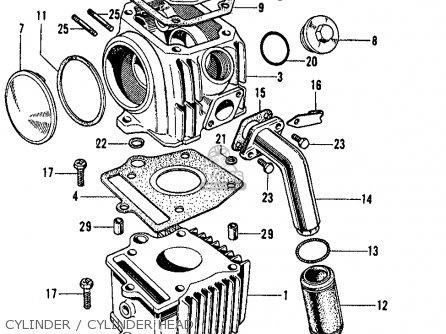 Honda S65 Sport 65 1965 Parts