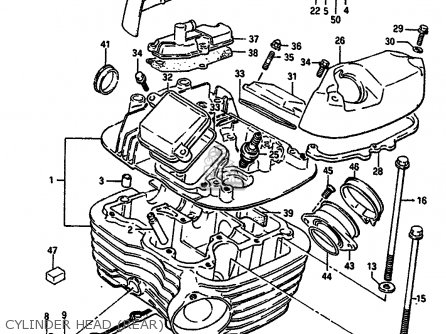 Head Assembly, Cylinder, Rear photo